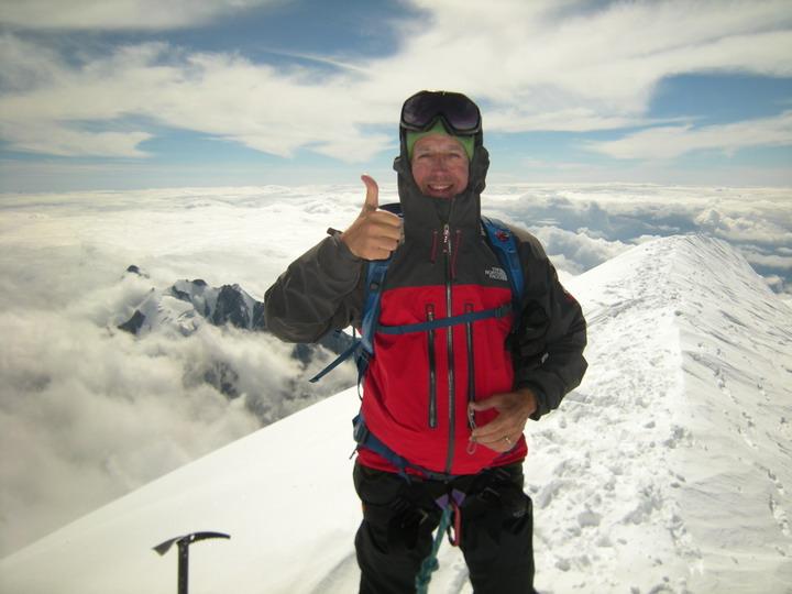 Philippe au sommet du Mont-Blanc
